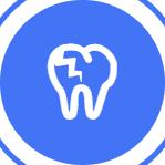 Зуб практически полностью разрушен